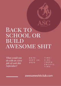 Poster for ASC XI - Back to School or Build Awesome shit